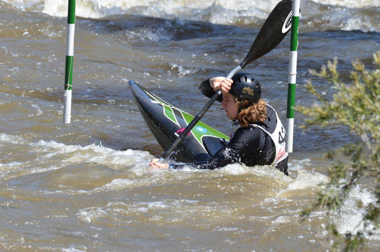 Ashley Hobbs competing in the 2014 Slalom Yarra Series Final. Photographer: Dean Tonkin