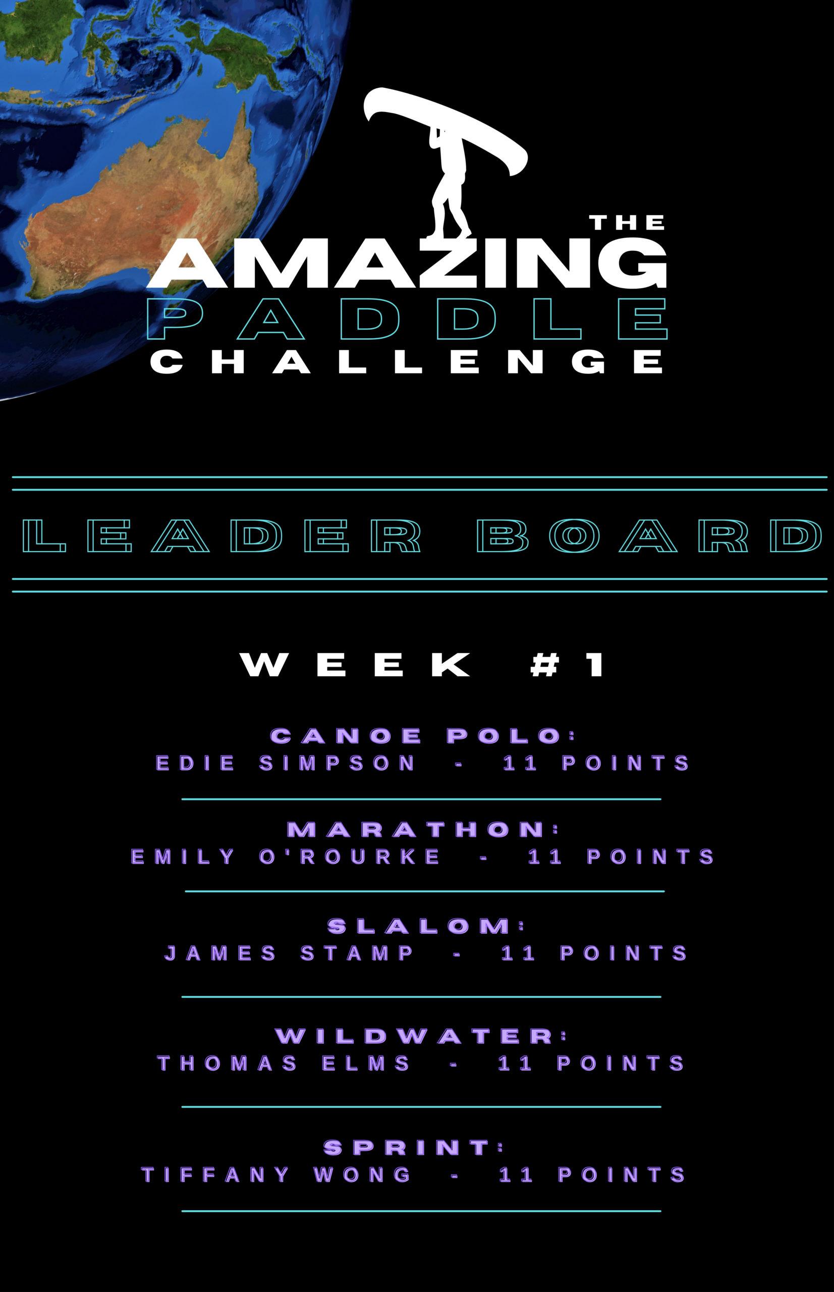 Amazing Paddle Challenge